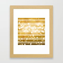 Sparkle Stripes | Gold Framed Art Print