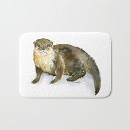 River Otter Watercolor Bath Mat