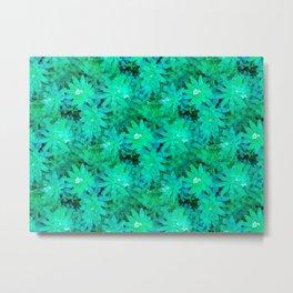 Woodruff in Blue & Green - IA Metal Print
