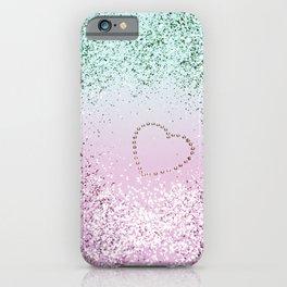 Mermaid Lady Glitter Heart #4 #decor #art #society6 iPhone Case