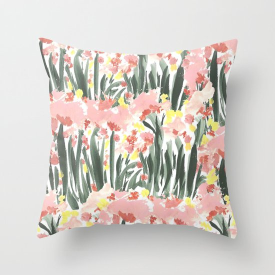 Ugly Garden Throw Pillow