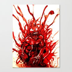 Carnage watercolor Canvas Print