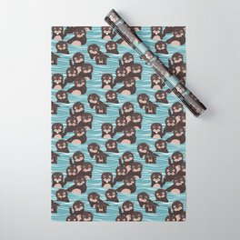 Otters dazzling the audience Wrapping Paper