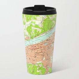 Vintage Map of Huntington West Virginia (1957) Travel Mug