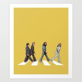 Yellow Abbey Road Art Print