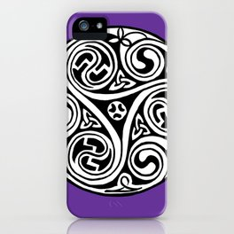 Celtic Art - Triskele - on Purple iPhone Case