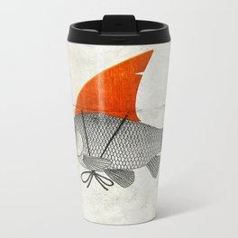 Goldfish with a Shark Fin Metal Travel Mug