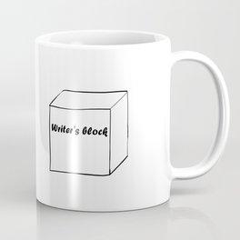 Funny Writer Gift: Writer's Block Print Coffee Mug