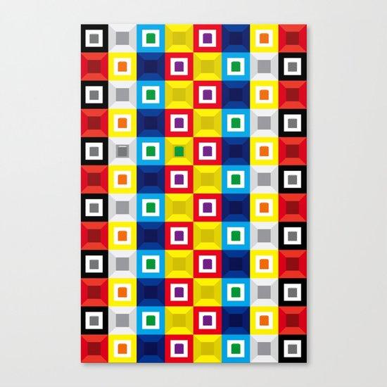 Squares Pattern Canvas Print