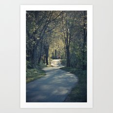 The love trail Art Print