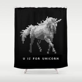 U is for Unicorn Shower Curtain
