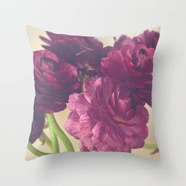 Romantic Ranunculus Throw Pillow