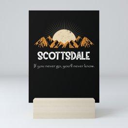 Scottsdale Hiking Mountains Vintage Mini Art Print