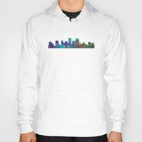 cityscape Hoodies featuring Seaside Cityscape by Klara Acel