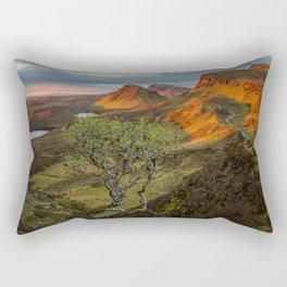 Sunrise in the Quiraing mountain landscape Rectangular Pillow