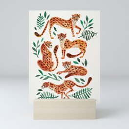 Cheetah Collection – Orange & Green Palette Mini Art Print