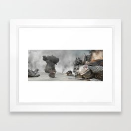 Turtle War Framed Art Print