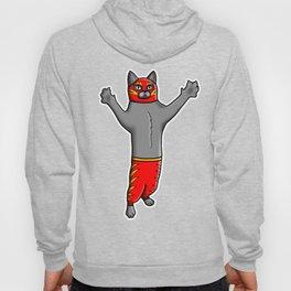 Gato Luchador - Cat Luchadore - Wrestler Kitty Hoody