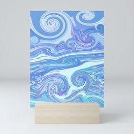 BLUE MIX Mini Art Print