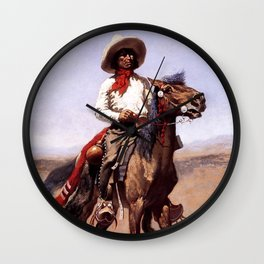 "Frederic Remington Western Art ""A Regimental Scout"" Wall Clock"