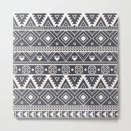 African Mud Cloth Print no.2 Metal Print