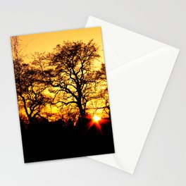 Tree with Sunset Stationery Cards