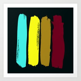 Color stripes Art Print