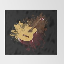 GUITAR DROPS Throw Blanket