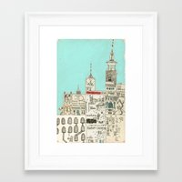 toronto Framed Art Prints featuring Toronto by Nayoun Kim