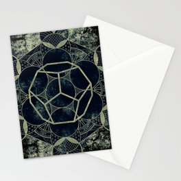 Sacred Geometry for your daily life -  Platonic Solids - ETHER Stationery Cards