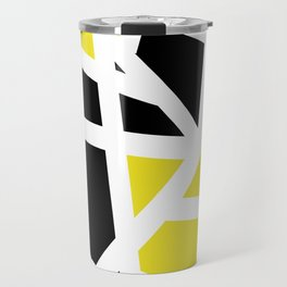 Abstract Interstate  Roadways Black & Yellow Color Travel Mug