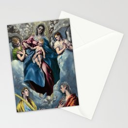 """El Greco (Domenikos Theotokopoulos) """"Madonna and Child with Saint Martina and Saint Agnes"""" Stationery Cards"""