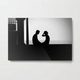 Love is... Black and white street photography Metal Print