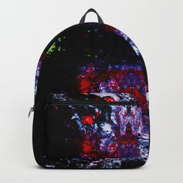 Psycho - Satanic Nightmares with Lightening Bugs Leading the way in Darkness by annmariescreations Backpack