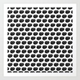 Little black roses Art Print