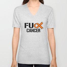 Leukemia Cancer Awareness graphic Gift design Unisex V-Neck