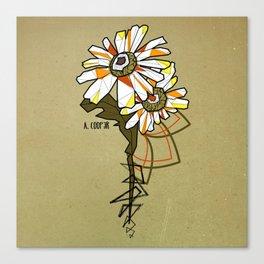 Tournesol - geometrci flower Canvas Print