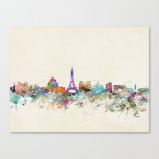 Paris city skyline  Canvas Print