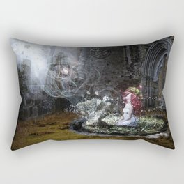 I'll use the light that comes to me from your halo Rectangular Pillow