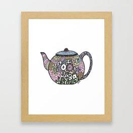 Tea Pot Head Framed Art Print