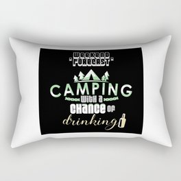 Weekend Forecast Camping With A Chance Of Drinking Rectangular Pillow