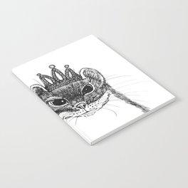 flapper weasel wearing a glittering tiara Notebook