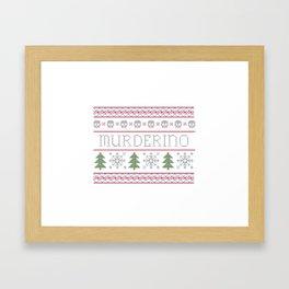 Merry Murderino Framed Art Print