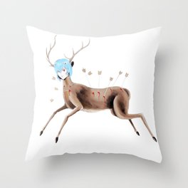 Rei Kahlo Throw Pillow