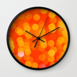 Orange Disco Fever Wall Clock