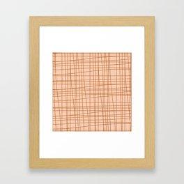 Messy Grid Framed Art Print