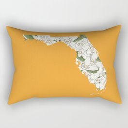 Florida in Flowers Rectangular Pillow