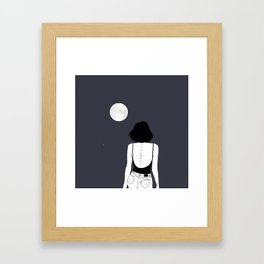 Am a moon like Framed Art Print