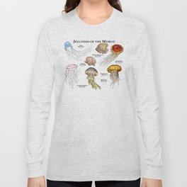 Jellyfish of the World Long Sleeve T-shirt