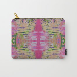 Joyful Pink Geometric Pattern Watercolor Tapestry Carry-All Pouch